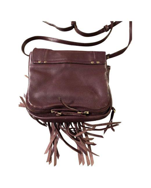 Jérôme Dreyfuss Multicolor Igor Burgundy Leather Handbag