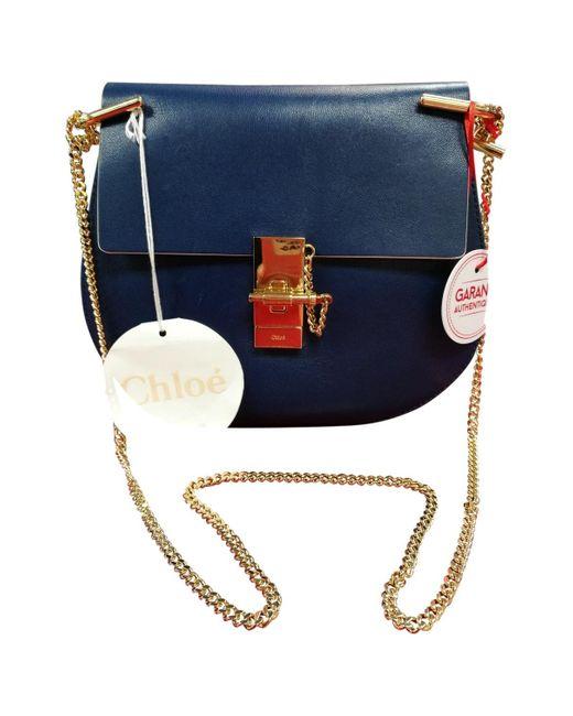 Chloé Drew Blue Leather Handbag