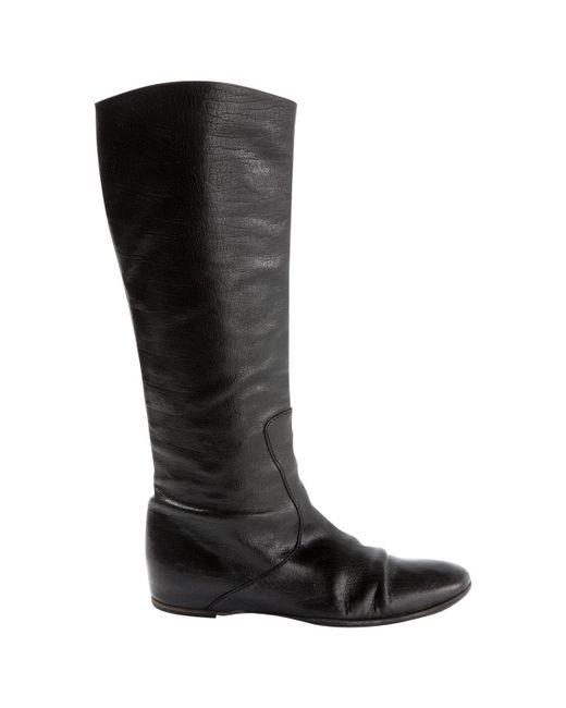 Bottega Veneta Black Leather