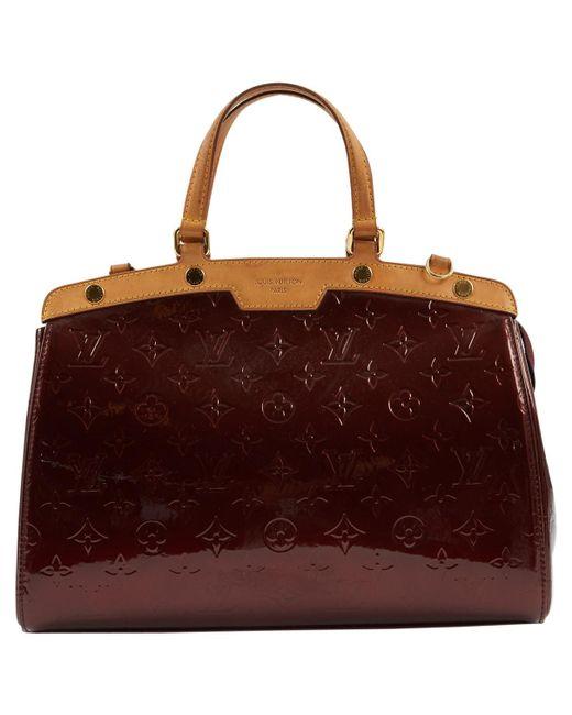 Louis Vuitton Multicolor Burgundy Patent Leather Handbag Lyst