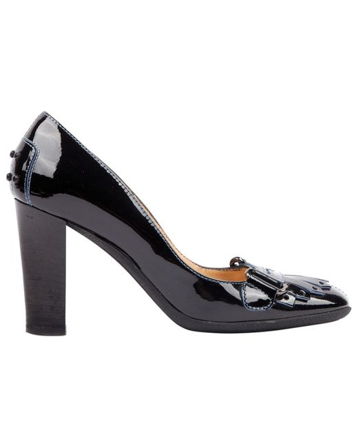 Tod's Black Patent Leather Heels