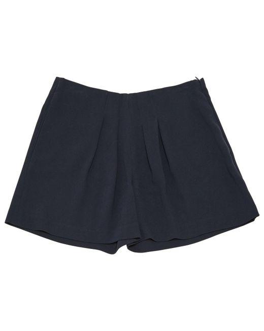 Maje - Blue Navy Synthetic Shorts - Lyst
