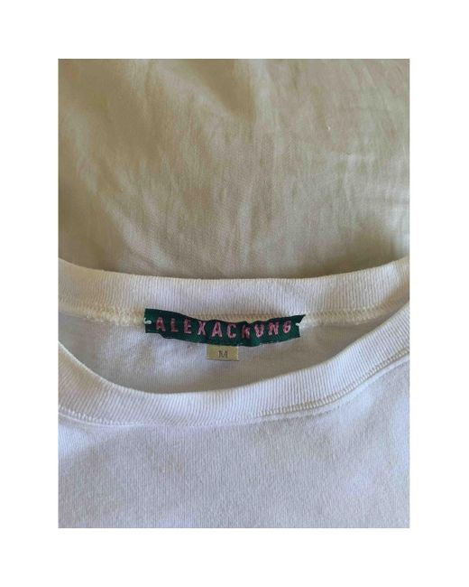 ALEXACHUNG Top en Coton Blanc femme tIaJr