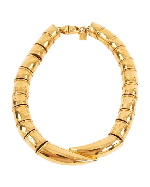 Givenchy - Metallic Gold Metal Necklace - Lyst