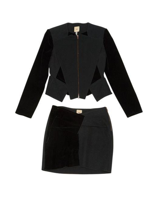 Roland Mouret Black Velvet Jacket