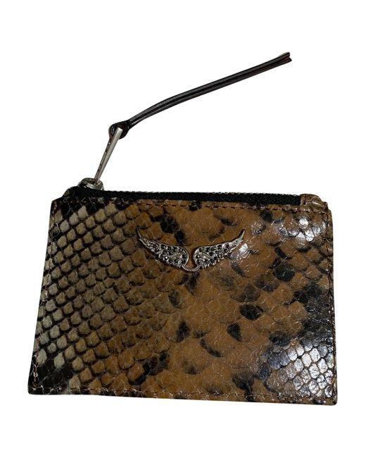Zadig & Voltaire Brown Leather Wallet