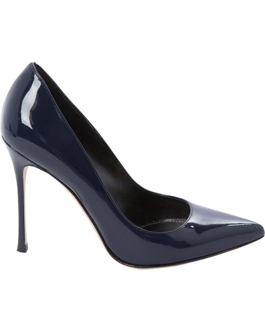 Sergio Rossi Blue Patent Leather