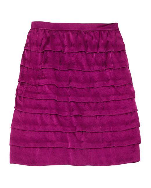Lanvin Purple Synthetic Skirt