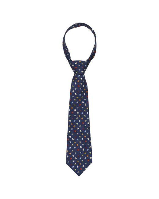 Ferragamo Blue Silk for men