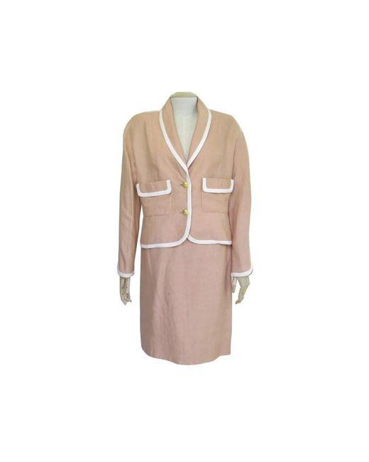 Chanel Pink Linen Jacket