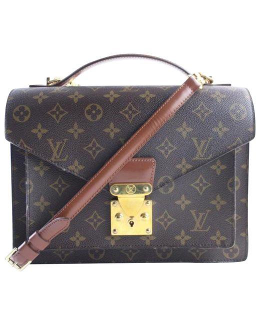 Louis Vuitton - Multicolor Pre-owned Vintage Monceau Other Cloth Handbag - Lyst