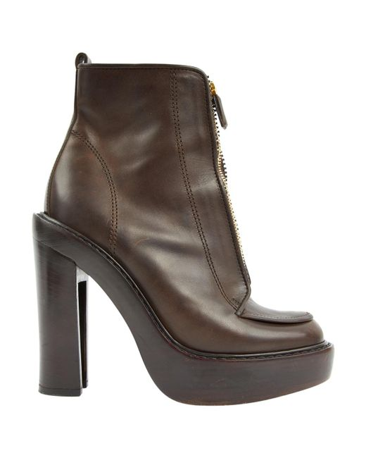 Givenchy - Brown Pre-owned Leather Boots - Lyst