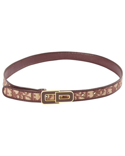 Dior - Red Pre-owned Cloth Belt - Lyst