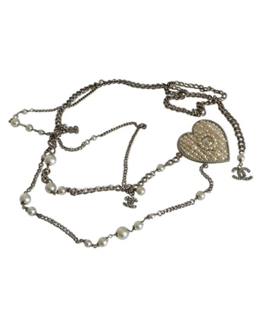 Chanel - Metallic Other Metal Necklace - Lyst