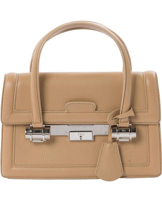 Dior - Natural Leather Mini Bag - Lyst