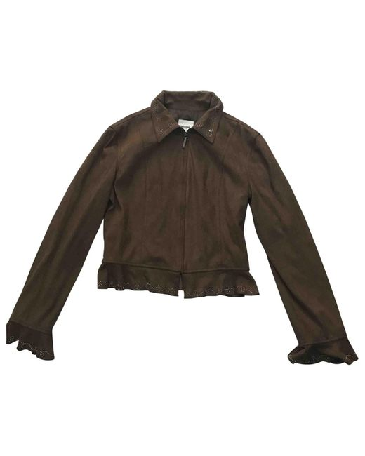 Moschino Brown Polyester Jacket