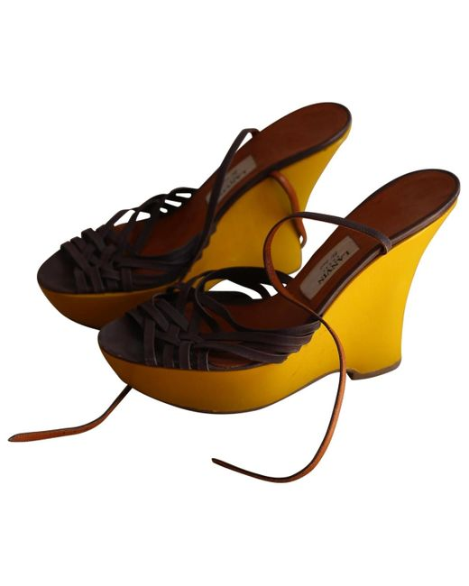 Lanvin Yellow Patent Leather