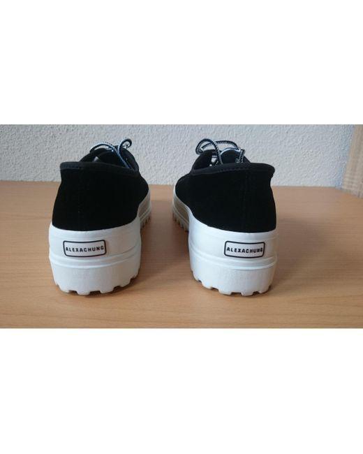 ALEXACHUNG Sneakers in Velluto da donna di colore nero