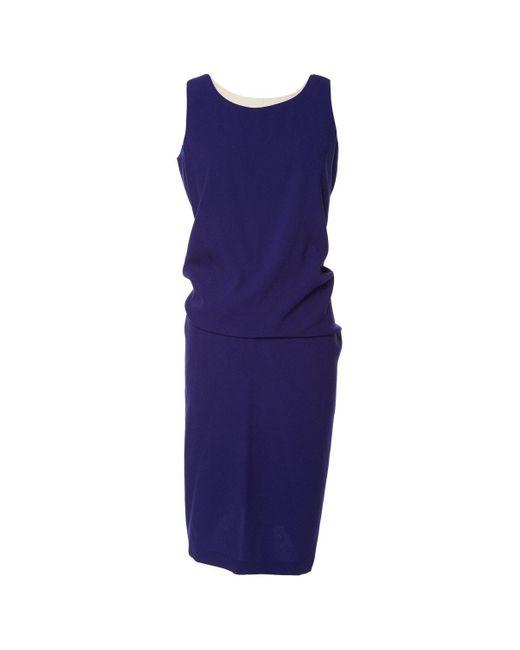 Jil Sander Blue Synthetic Dress