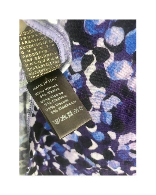 Roberto Cavalli Blue Multicolour Viscose Top