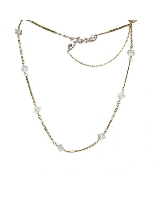 Fendi - Metallic Gold Metal Necklace - Lyst