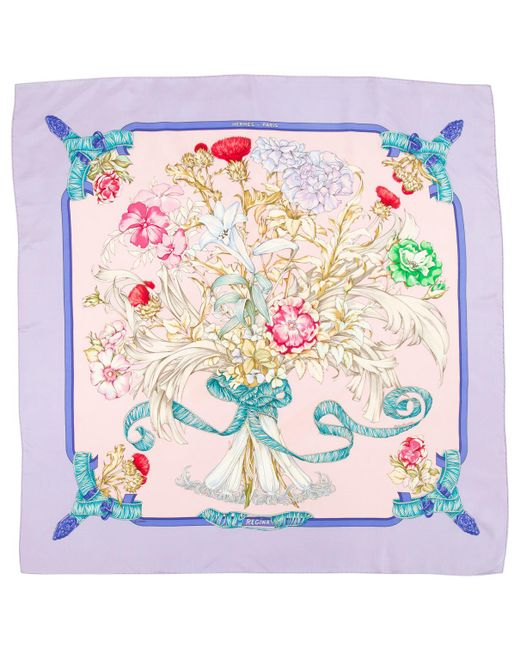 Hermès - Pink Pre-owned Châle Silk Scarf - Lyst