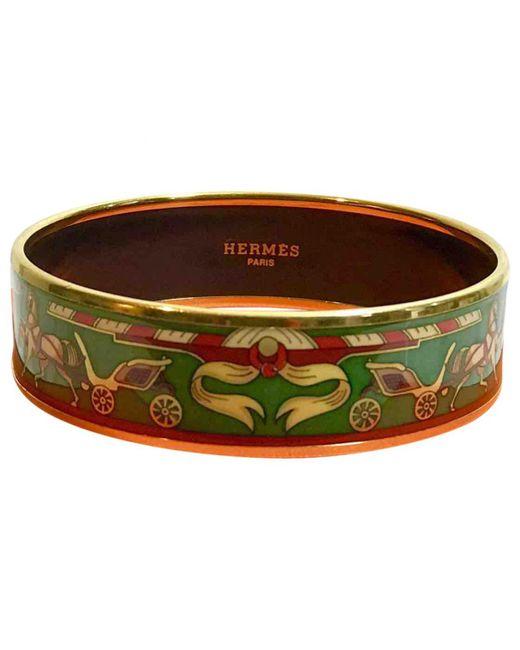 Hermès - Green Bracelet Email Bracelet - Lyst