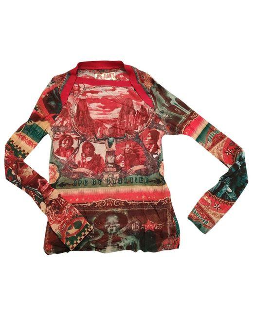 Jean Paul Gaultier Camiseta de mujer de color rojo Vw4Qx