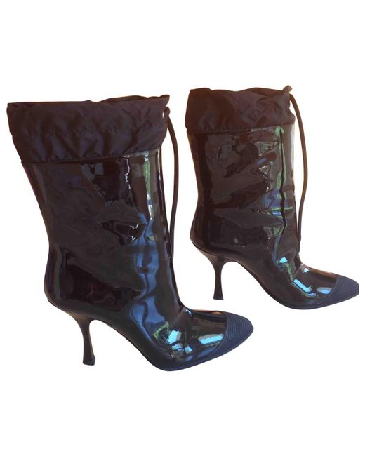 Pre-owned - Leather boots Miu Miu