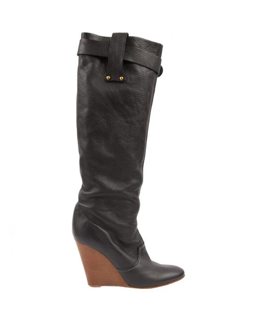 Pre-owned - Leather riding boots Chlo AIRPzETeQ