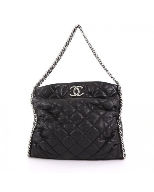 Chanel - Pre-owned Black Leather Handbags - Lyst