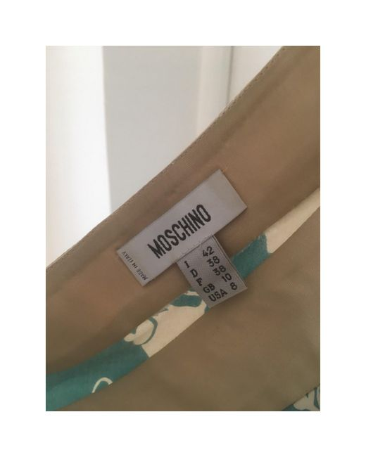 Robe mi-longue coton multicolore Moschino