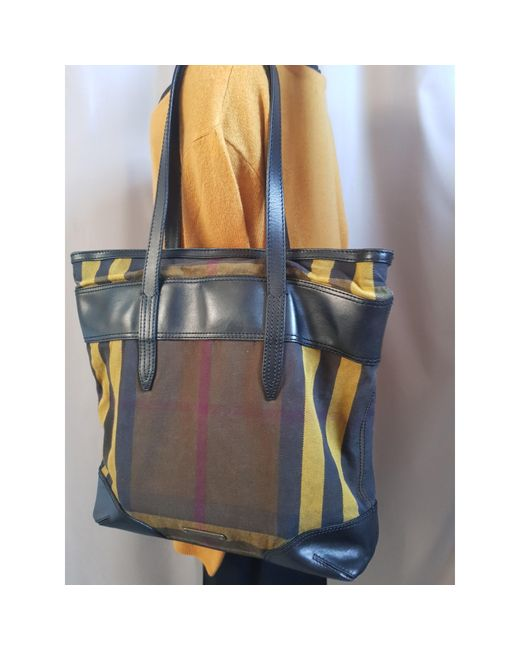 Sac à main en cuir coton multicolore Burberry
