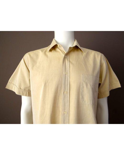Chemisette coton beige Burberry pour homme en coloris Natural