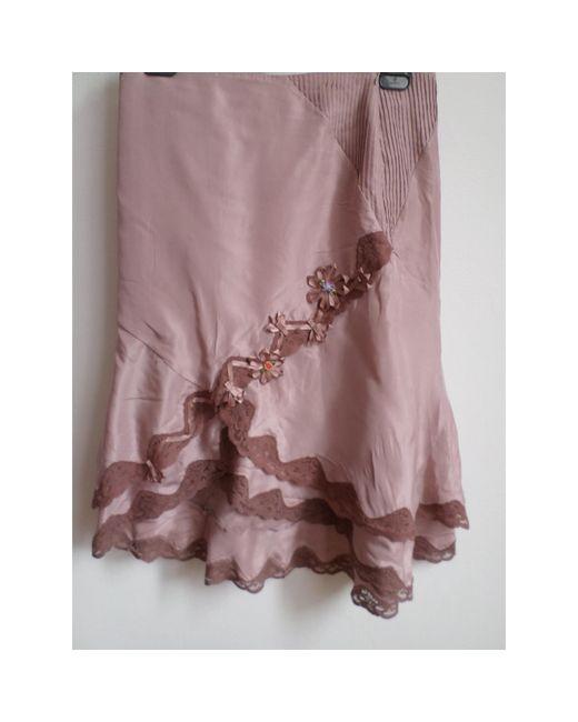 Jupe longue soie rose Karen Millen en coloris Pink
