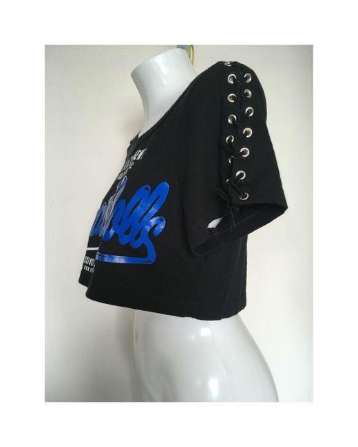 Top, tee-shirt coton noir Dolce & Gabbana en coloris Black