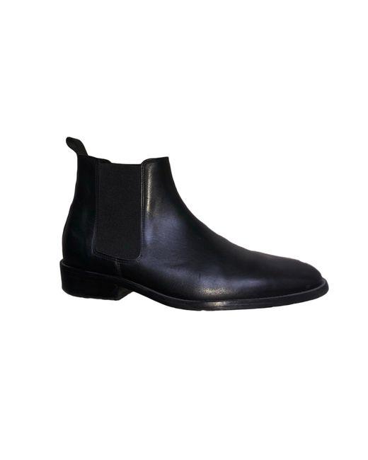 Bottines cuir noir Sandro pour homme en coloris Black