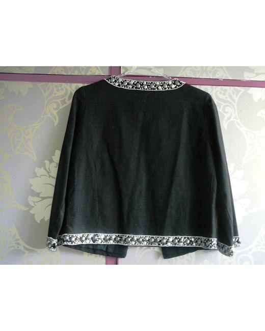 Veste coton noir Maje en coloris Black