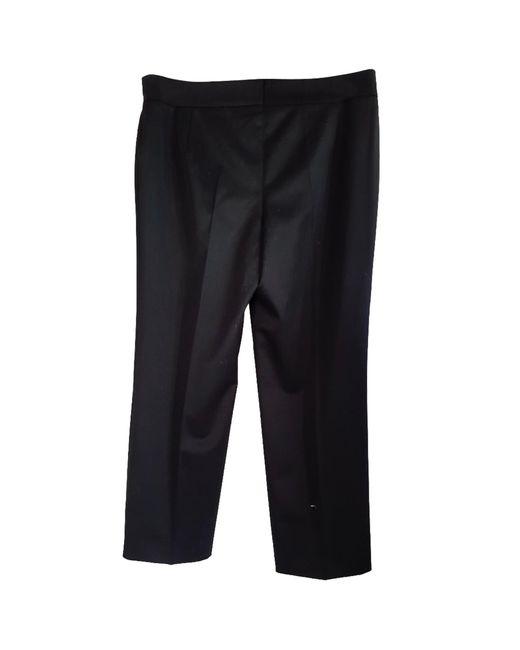 Pantalon droit laine noir Jean Paul Gaultier en coloris Black