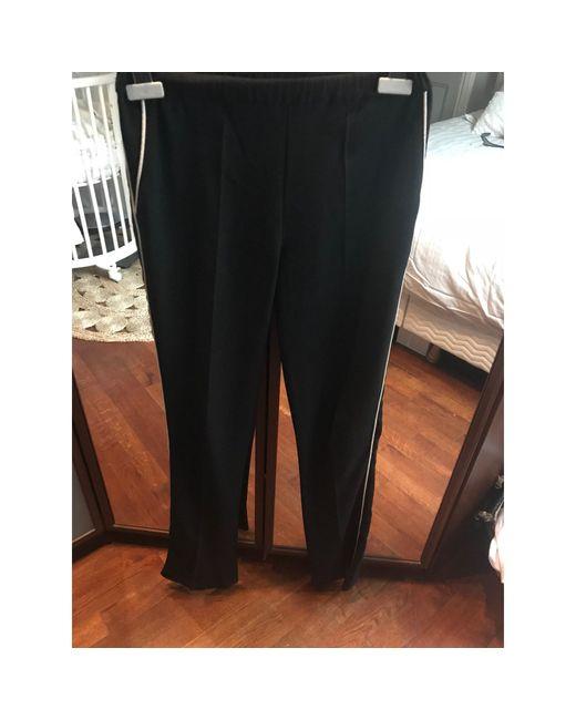 Pantalon droit acetate noir IRO en coloris Black