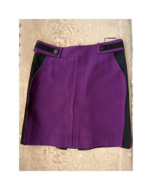 Jupe courte acrylique violet Louis Vuitton en coloris Purple