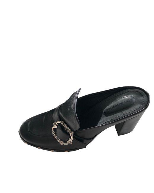 Mocassins cuir noir The Kooples en coloris Black