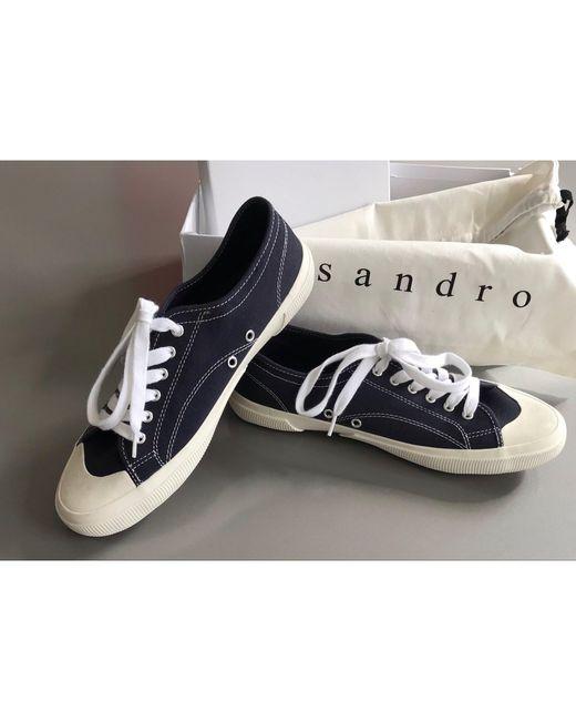 Baskets caoutchouc bleu Sandro pour homme en coloris Blue