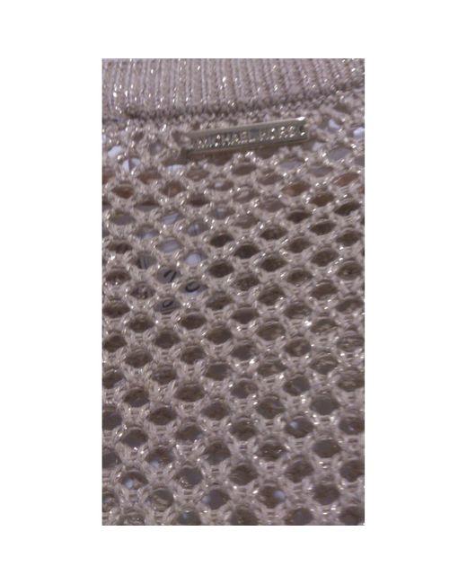 Pull coton, acrylique, lurex doré Michael Kors en coloris Metallic