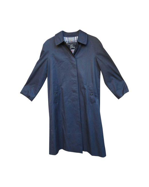 Imperméable, trench coton bleu Burberry en coloris Blue