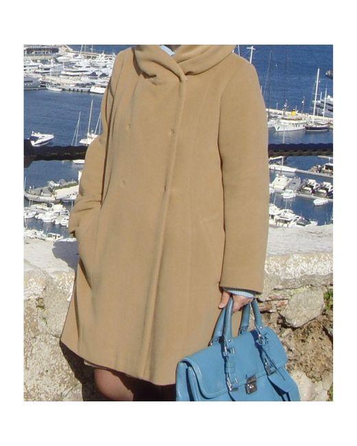 Manteau laine beige Gerard Darel en coloris Natural