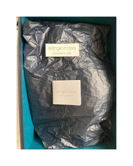 Escarpins compensés cuir verni gris Sergio Rossi en coloris Gray