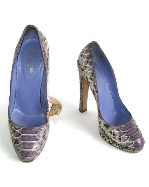 Escarpins python autre Sergio Rossi en coloris Blue