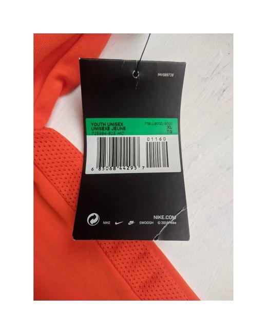 Tee-shirt polyester orange Nike pour homme