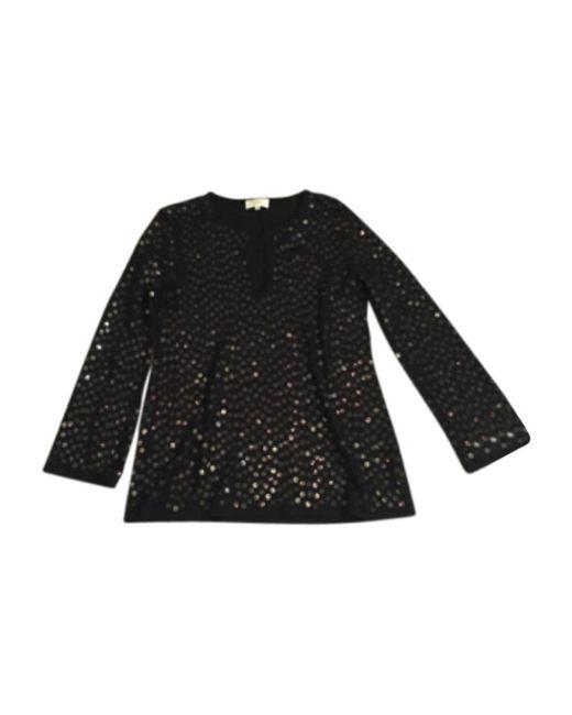 Pull tunique laine noir Nina Ricci en coloris Black